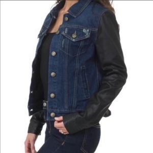 Laundry By Shelli Segal Jackets & Coats - Laundry By Shelli Segal Faux Leather Jean Jacket